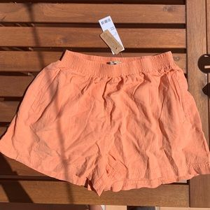 Urban outfitters coral jogger shorts
